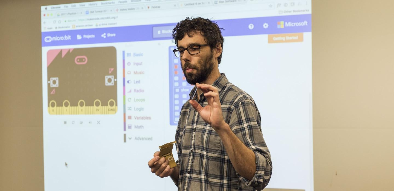 Andrew Ringler, DMI alumni, teaching at the 2017 Bootcamp
